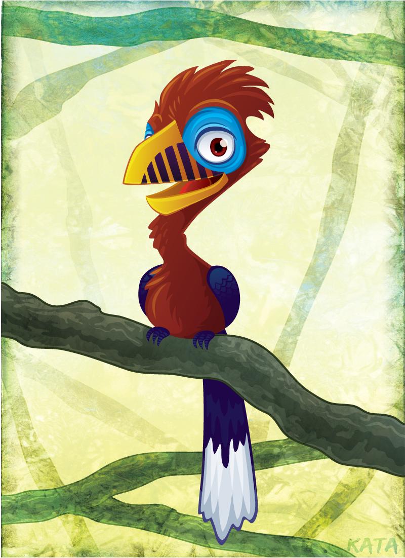 Rufous Necked Hornbill by Kata