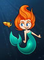 Mermaid: Red by Kata