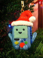 MerRy Christmas BMO Ornament! by Drae-45