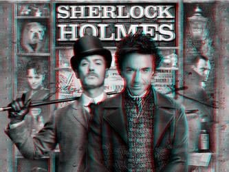 Sherlock Holmes poster 3-D by MVRamsey