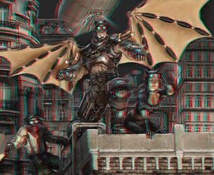 Steampunk Batman 3-D conversion by MVRamsey