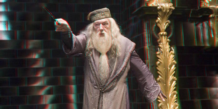 Dumbledore 3-D conversion by MVRamsey