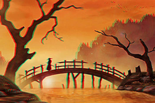Peaceful Bridge 3-D conversion by MVRamsey