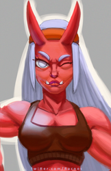 Oni girl ! close up by Racnos