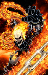 Ghost Rider Colored by CliffEngland