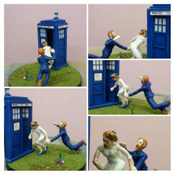 Dr Who Wedding Cake Topper  by Caerban