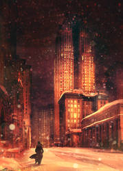Assassin's Creed Detroit: Night Snow by zandraart