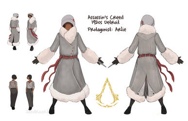 Assassin's Creed Detroit: Protagonist Sketches by zandraart