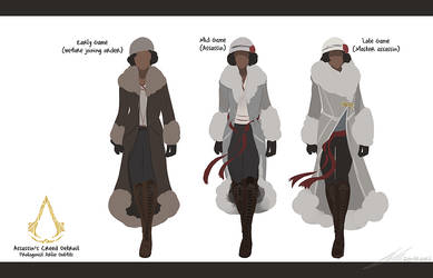 Assassin's Creed Detroit: Arlie's Outfits by zandraart