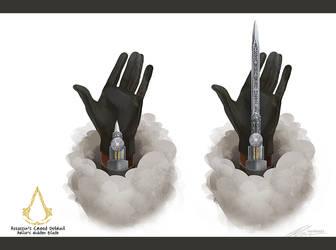 Assassin's Creed Detroit: Hidden Blade by zandraart
