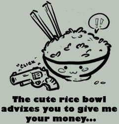 Cute Rice Bowl by Echostarter