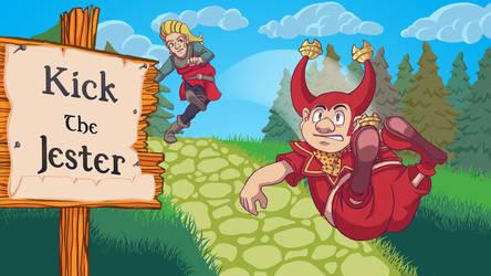 Kick the Jester - Titlescreen by Jiubeck