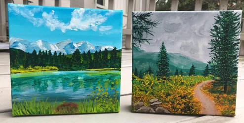 Colorado Scenes in Acrylic by Dawnchaser