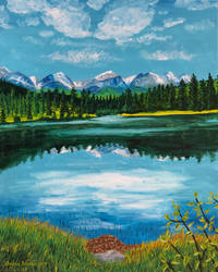 Sprague Lake in Acrylic by Dawnchaser
