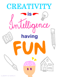 Creativity is intelligence having fun by leticiavicentinib