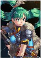 Legendary Lyn from FE Heroes by Comadreja