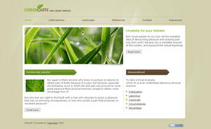 Green Guite - V2 CSS Template by Neurath-Art