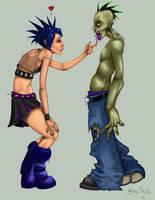 Punk Rock Zombie Love by Brain-Damaged