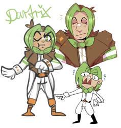 Dartrix gijinka by Mons00n