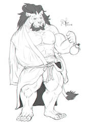 Kimono Pin Up Sketch #2 - Arsalan by Defago
