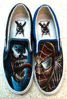 Venom Spiderman Shoes by JordanMendenhall