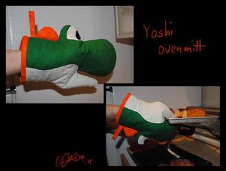 Yoshi oven mitt by Eyes5