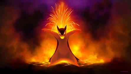 Typhlosion's Lava Plume by arkeis-pokemon