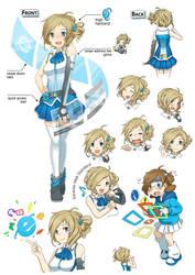 Character Design - Aizawa Inori by nicowaha
