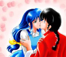 First Kiss by ranmaonehalf