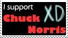 I support Chuck Norris Stamp by Otogakure-Akatsuki