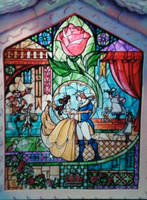 Beauty and Beast Stain Glass by graphitemonsta