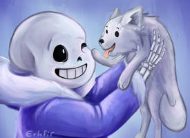 Sans + Annoying dog by Erkfir