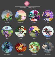2018 Art Summary by RaspberryStudios