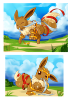 Commission .:Eevee:. by Icandoittoo
