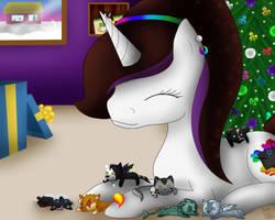 A Very Plushie Christmas by BlueEyesNeko