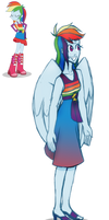 Rainbow Dash Fall Formal Dress Inspiration/Edit by SnowyTime