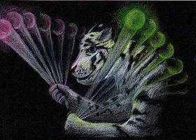 Spinning Poi Tiger by arikla