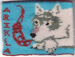 Arikla Beaded badge 2 by arikla