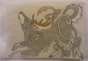 Deerwolf Kells Style by arikla
