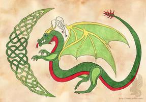 Celtic Christmas Dragon by arikla