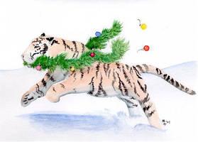 Snow Tiger by arikla