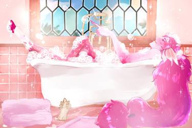 Bubble Bath Time by kouao