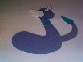 Paper Dragonair Sillouhette by daughterofbastet