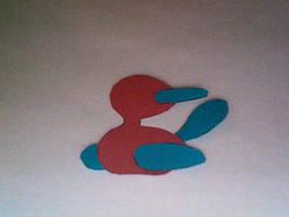 Paper Porygon2 Sillouhette by daughterofbastet