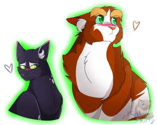 Spottedshadow and Wildfur (GIFT) by SydKatGoddess