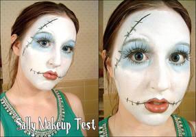 Makeup Test: Sally. by cupcake-rufflebutt