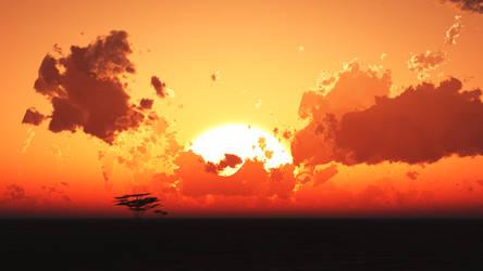 Savanna Sunrise by TheDifferentWay