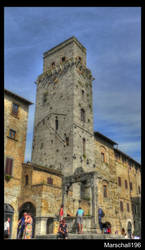 San Gimignano tower by marschall196