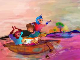 Fisherman and Magic Apes by ixnivek