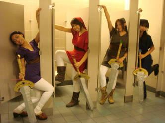 Bathroom Links- SapphireWolf22 by Watashitachi-Cosplay